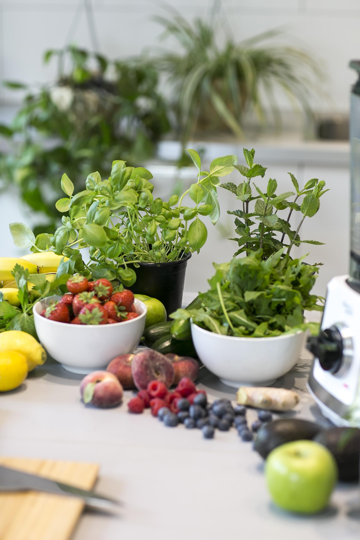 Salat und Smoothies