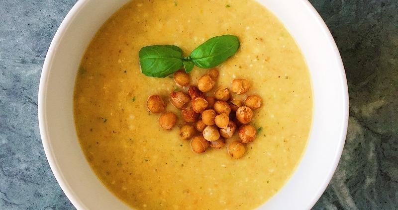Blumenkohl-Pfirsich Suppe