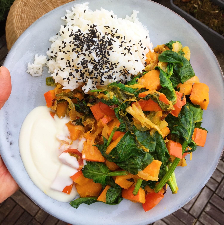 Vegetarisches Pfannengericht